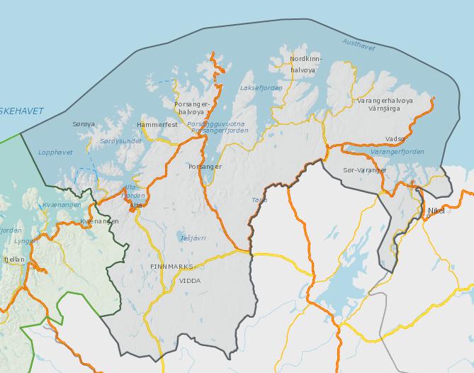 Oversiktskart Finnmark