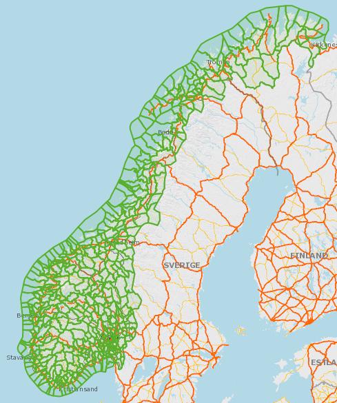 Oversiktskart over Kommunene i Norge