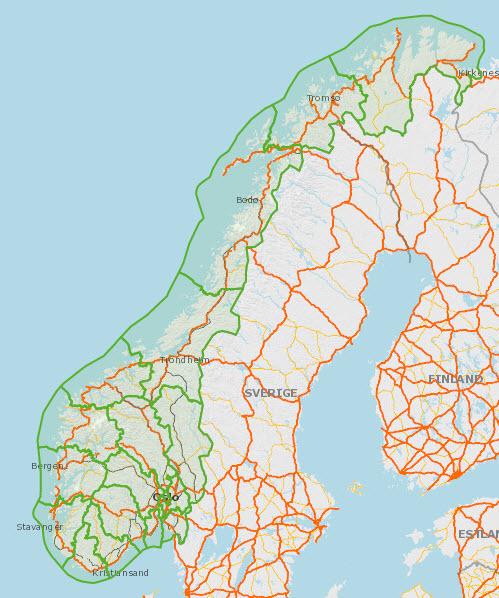 Oversiktskartover Fylkene i Norge